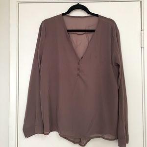 Tops - Corset Back Button Shirt